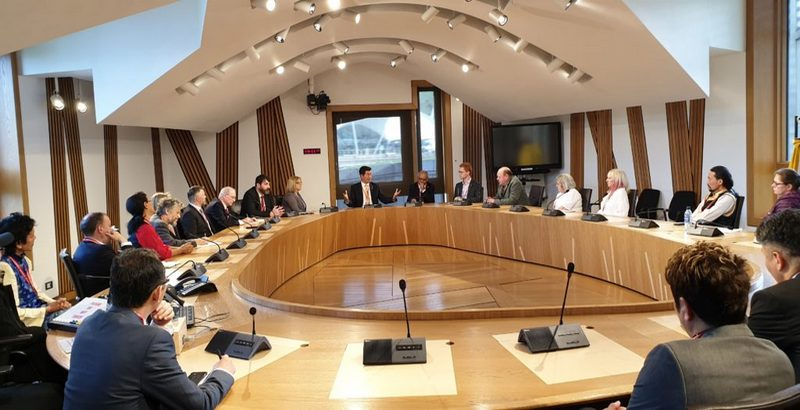 Tibetan President Dr Lobsang Sangay speaking at the meeting of the Cross Party Group for Tibet at the Scottish parliament, in Edinburgh, Scotland, on June 25, 2019. Photo: Office of Tibet, London