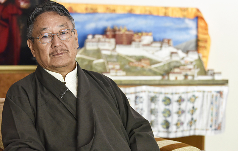 Sonam Topgyal Khorlatsang, the finance minister of the Tibetan government in-Exile. Featured image courtesy CTA Home Department